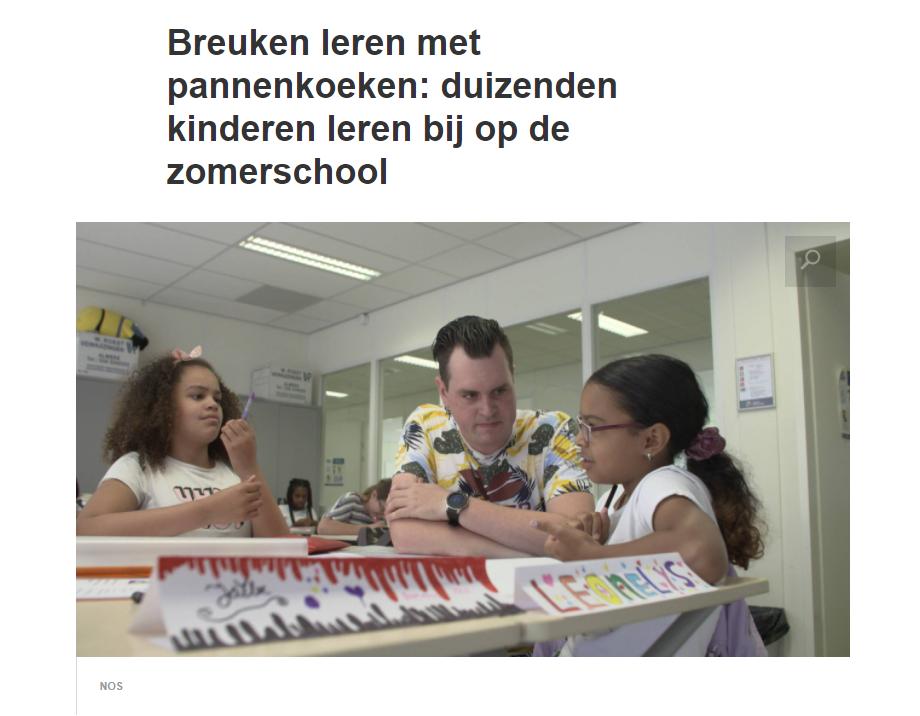 Breuken leren met pannenkoeken: duizenden kinderen leren bij op de zomerschool