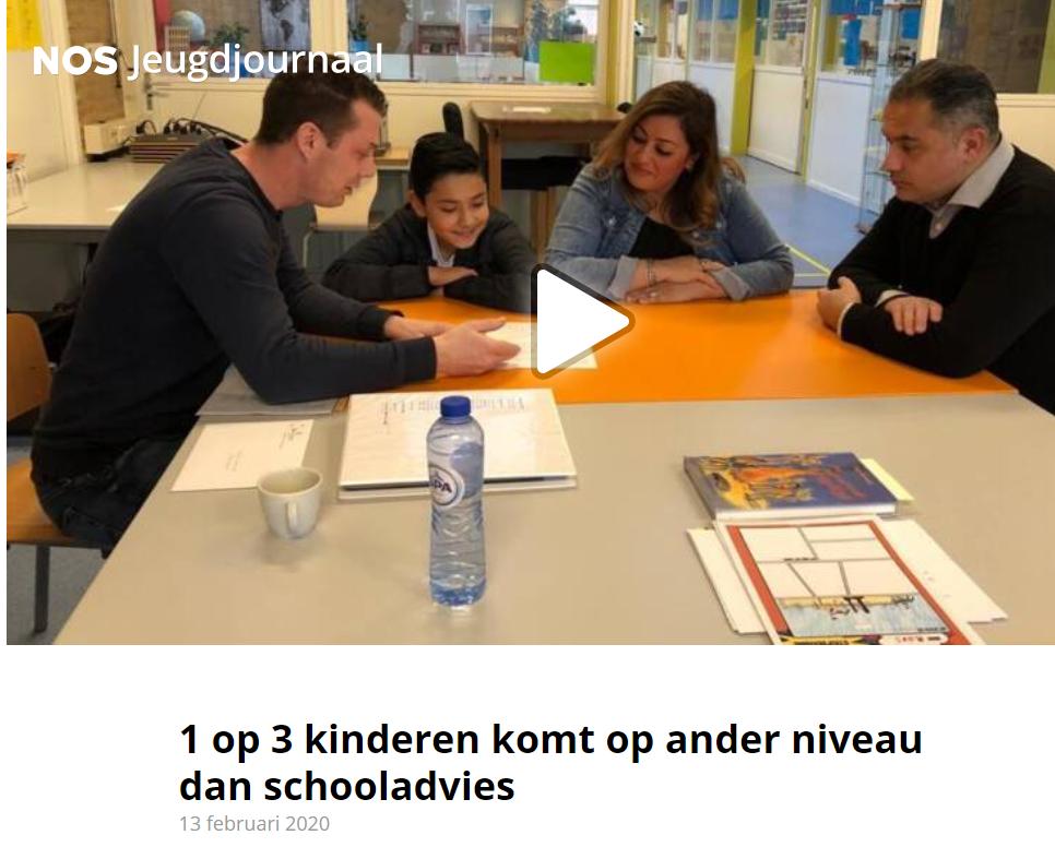 1 op 3 kinderen komt op ander niveau dan schooladvies