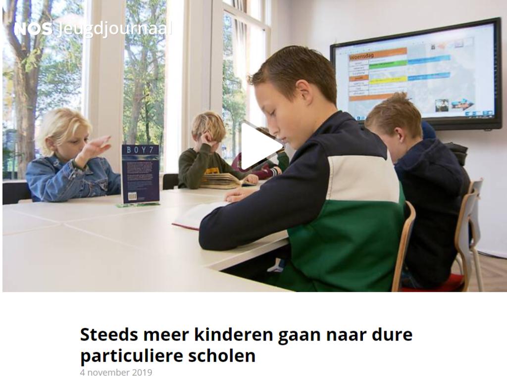 Steeds meer kinderen gaan naar dure particuliere scholen